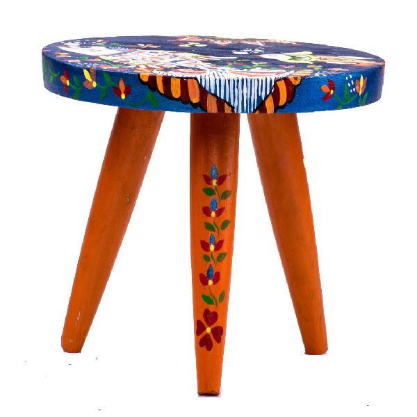 Painted Classic Wooden Stool