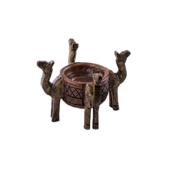 Wooden Camel Design Decorative Classic Pot