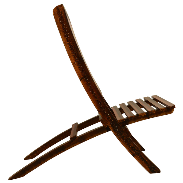 Wooden Ethnic Folding Chair