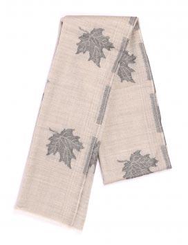 Chinar Leaf Pure Natural Jacquard Weave Cashmere Scarf