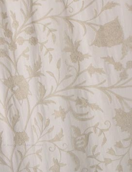 Danzdar Hand Embroidered Cotton Crewel Curtain Fabric
