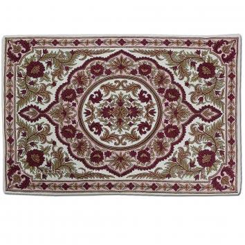 Kanzalwan Wool Embroidered Traditional Handmade Rug