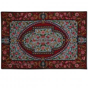 Najeeb Wool Embroidered Traditional Handmade Rug