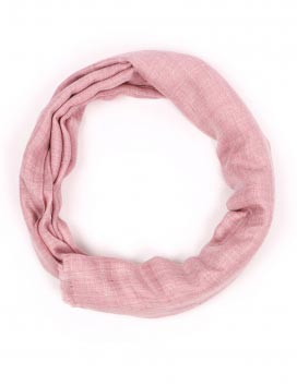 Pink Melange Organic Natural Handmade Cashmere Scarf