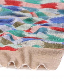 Soft Beautiful Jacquard Brick Pattern Pure Cashmere Scarf