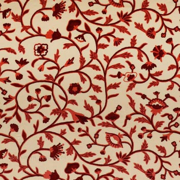Zanskar Crewel Work Hand Embroidered Cotton Fabric