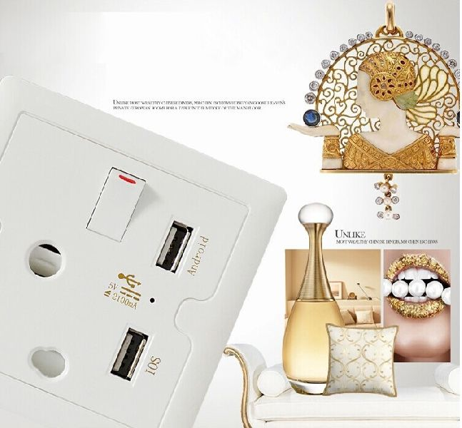 USB Socket Wall Face Plate 03
