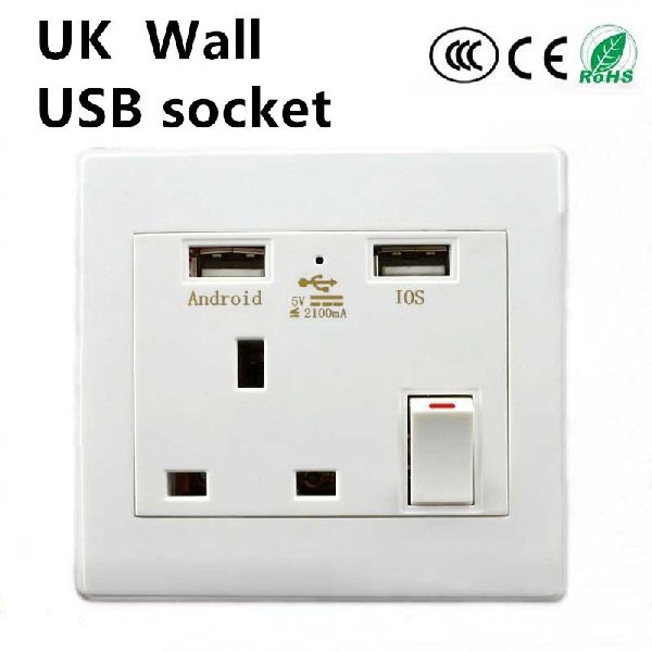 USB Socket Wall Face Plate 04