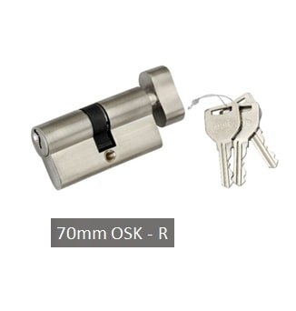 OSK 70mm Cylindrical Door Lock