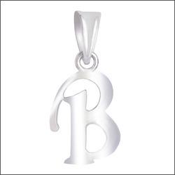 925 Sterling Silver B Alphabet Pendant