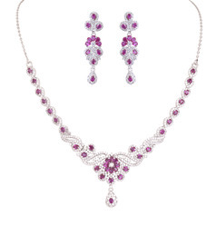 925 Sterling Silver Necklace Set 02