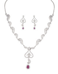925 Sterling Silver Necklace Set 06