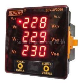 Digital Voltmeter (3 Phase on 3 Display)