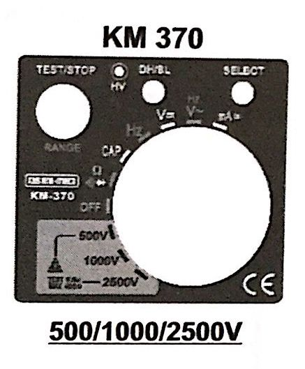 KM 370 Digital Analog Insulation Resistance Tester with Multimeter Function