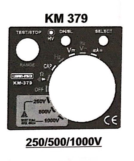 KM 379 Digital Analog Insulation Resistance Tester with Multimeter Function