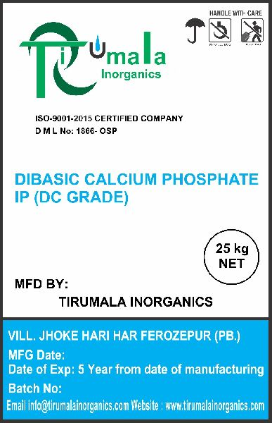 Dibasic Calcium Phosphate IP