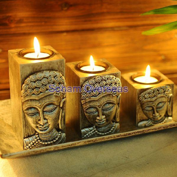 Wooden Candle Stand 01