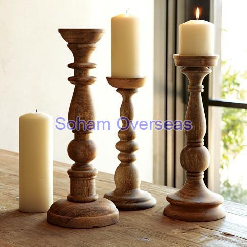 Wooden Candle Stand 02