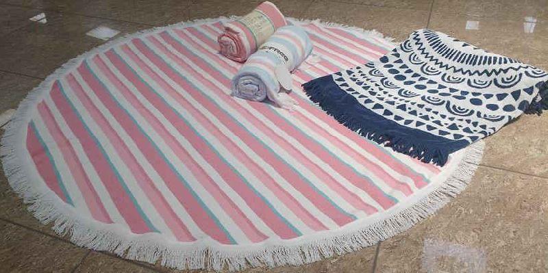Mandala Jacquard Round Beach Towel 02