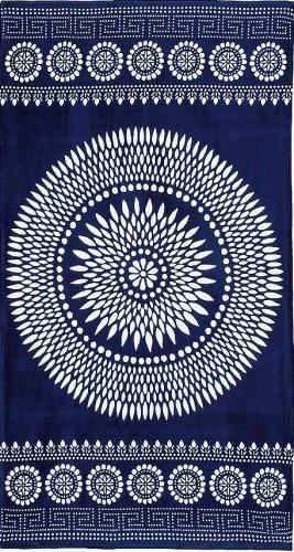 Yarn Dyed Jacquard Velour Beach Towel