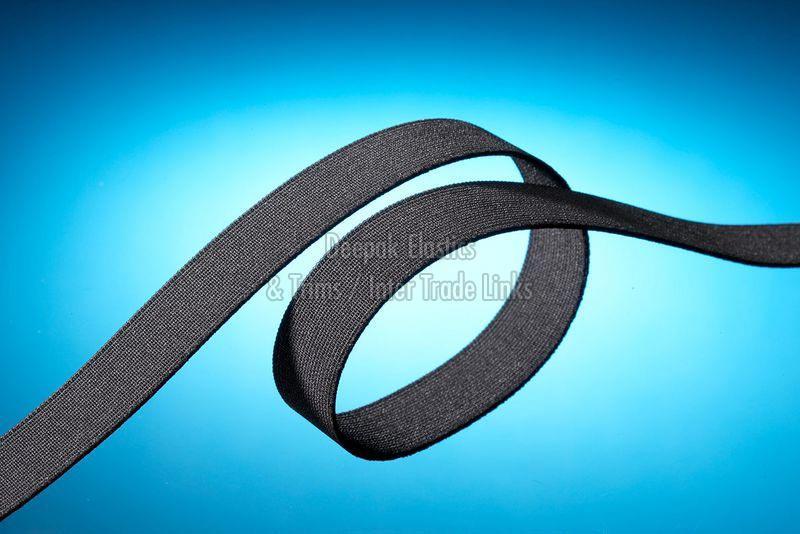 Black Plain Woven Elastic