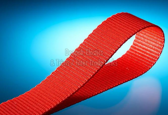 Red Herringbone Webbing Tape