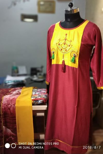 Rayon Cycle Embroidered Kurti