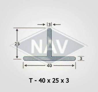 T-40X25x3 Steel Window Section