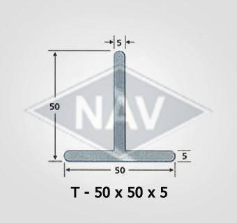 T-50x50x5 Steel Window Sections