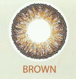 3 Tone Brown Contact Lenses 01