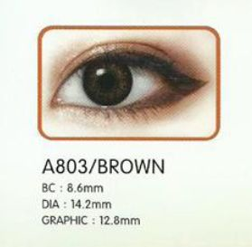 3 Tone Brown Contact Lenses 02
