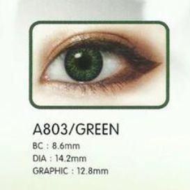 3 Tone Green Contact Lenses 02