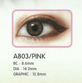 3 Tone Pink Contact Lenses 02