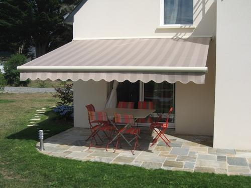 Striped Terrace Awnings