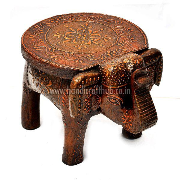 Hand Painted Wooden Elephant Stool Manufacturer Supplier