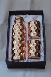 Copper Diamond Bottle & Tumbler Set