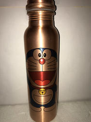 Doremon Print Copper Bottle