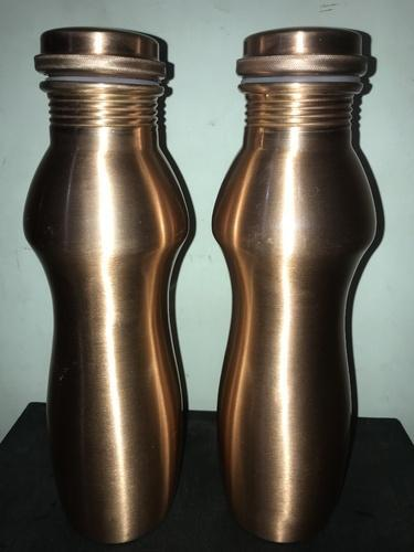 Curve Matt Finish Copper Bottle