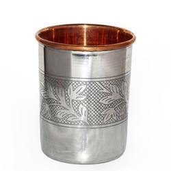 Copper Steel Embossed Tumbler