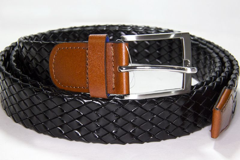 ae768ac3438 Black Weaved Leather Belt - Manufacturer Exporter Supplier in United ...