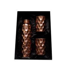 Copper Hammered Bottles