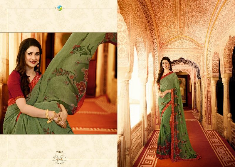 19142 1Vinay Starwalk vol 34 Satin Georgette Saree