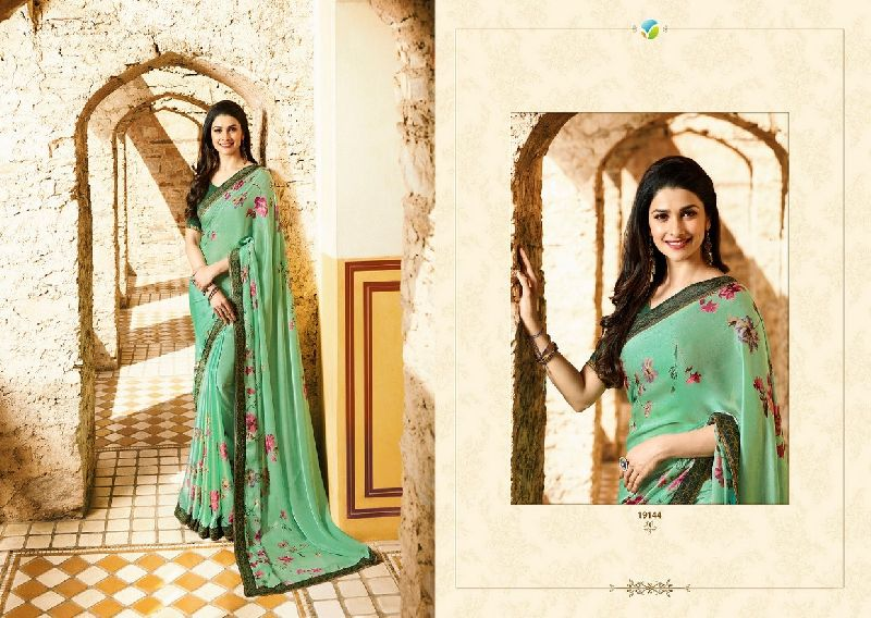 19144 Vinay Starwalk vol 34 Satin Georgette Saree