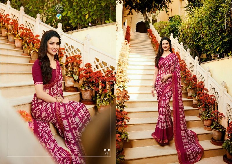 19146 Vinay Starwalk vol 34 Satin Georgette Saree