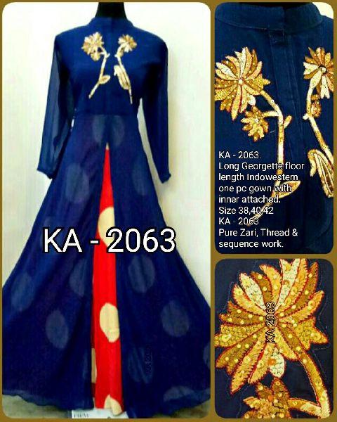 2063  KA Designer Long Gowm