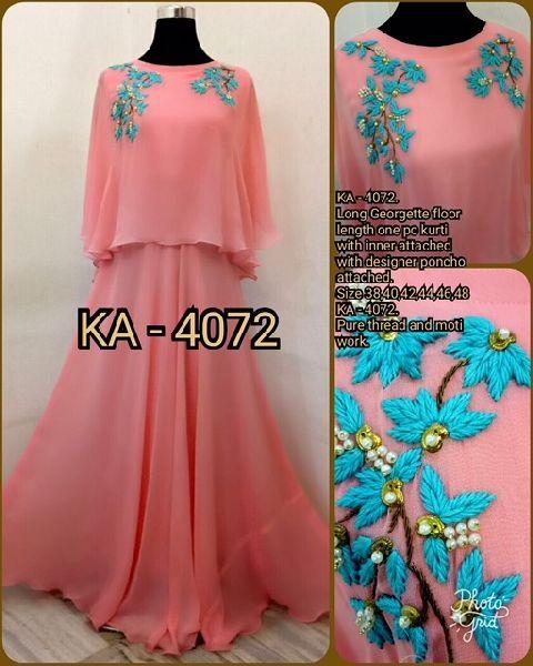 4072 KA Designer Long Gowm