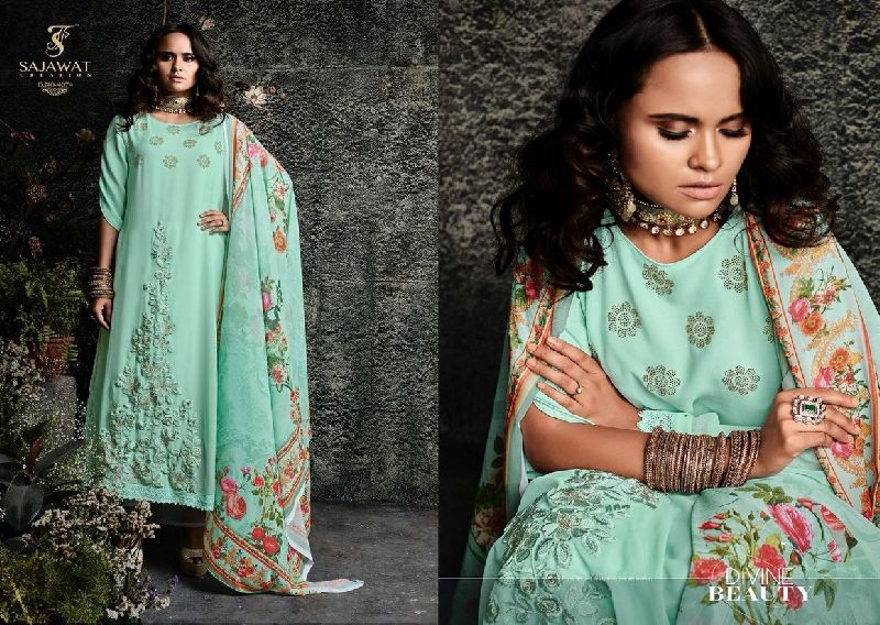 4074 Sajawat Taj Vol 2 Pakistani Salwar Suit