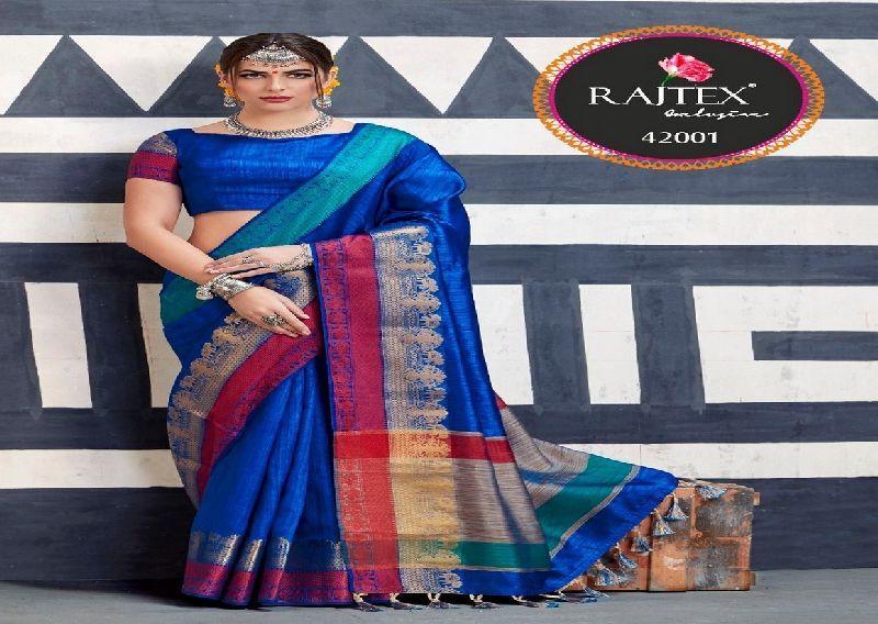 42001 Rajtex Kaleera silk nylon silk saree