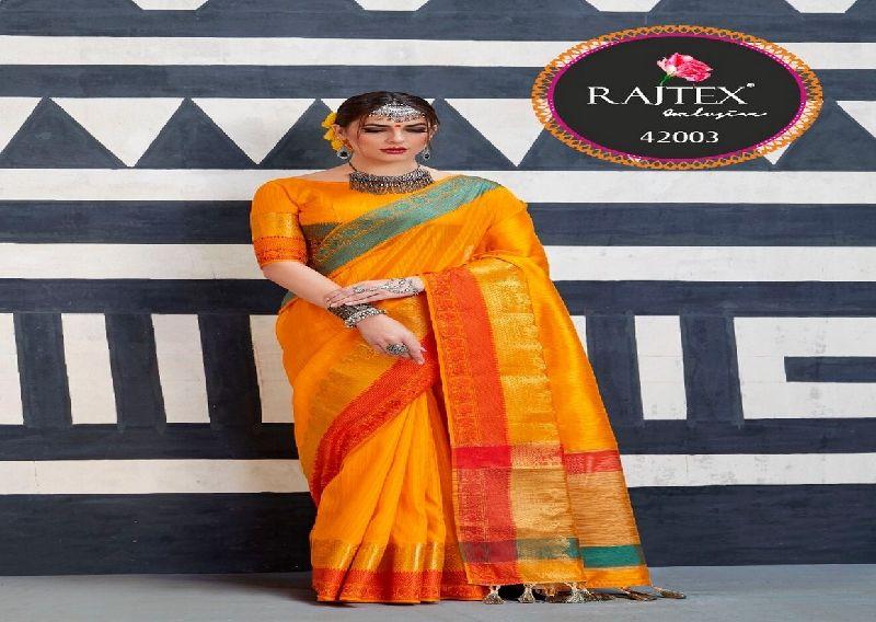 42003  Rajtex Kaleera silk nylon silk saree
