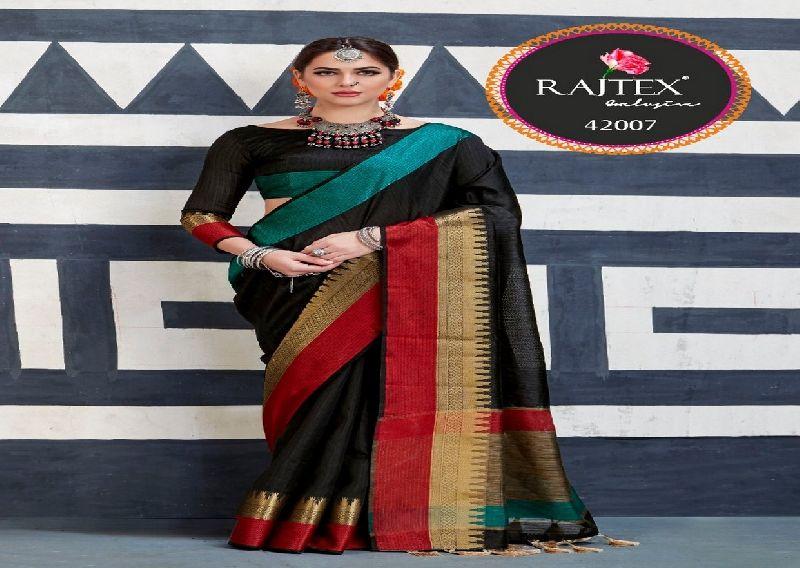 42007  Rajtex Kaleera silk nylon silk saree
